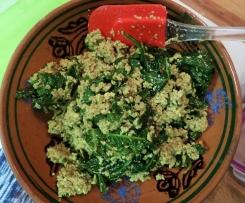 Tofu s hráškem a kale