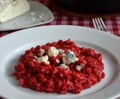 Rizoto s červenou řepou a gorgonzolou